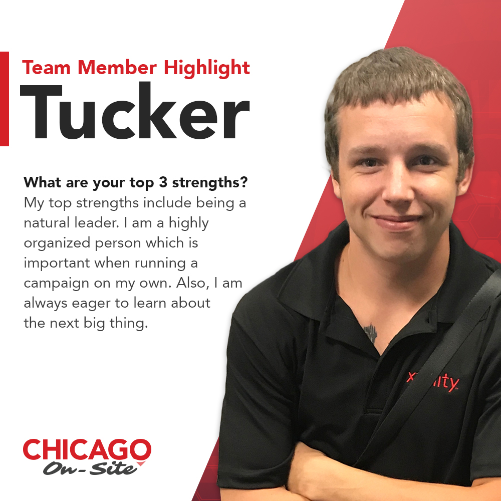 Recognizing Tucker's Outstanding Performance